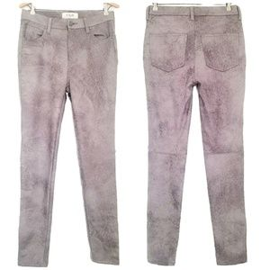 Free People distressed vegan leather skinny  pants